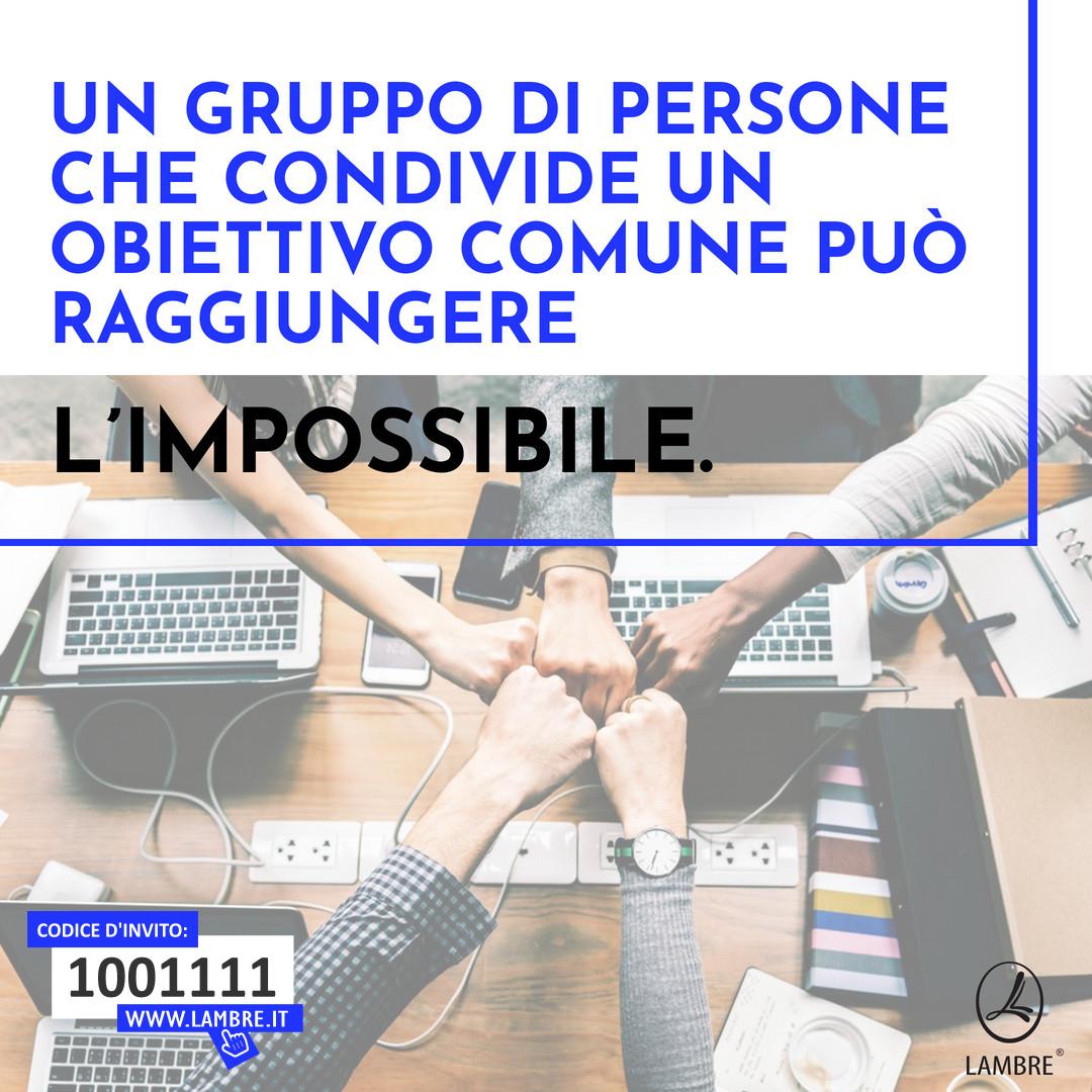 Un gruppo di persone che condivide un obiettivo comune può raggiungere l'impossibile